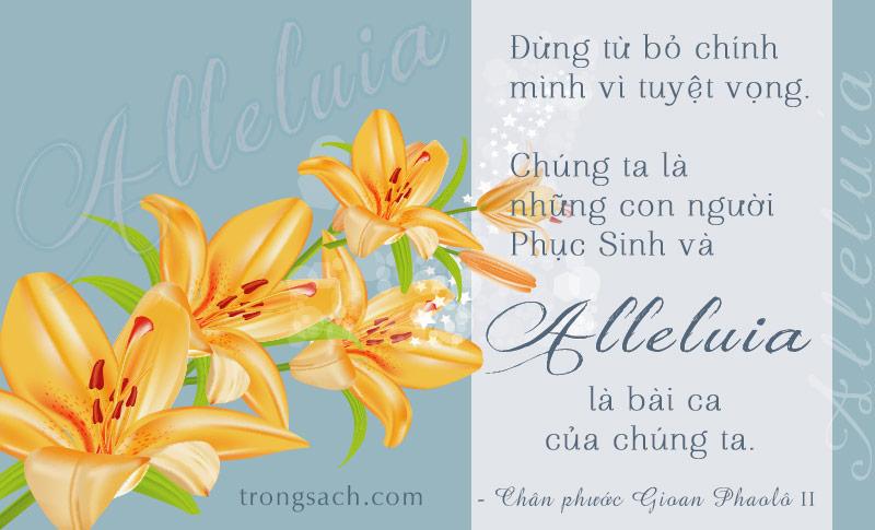 Alleluia là bài ca của chúng ta