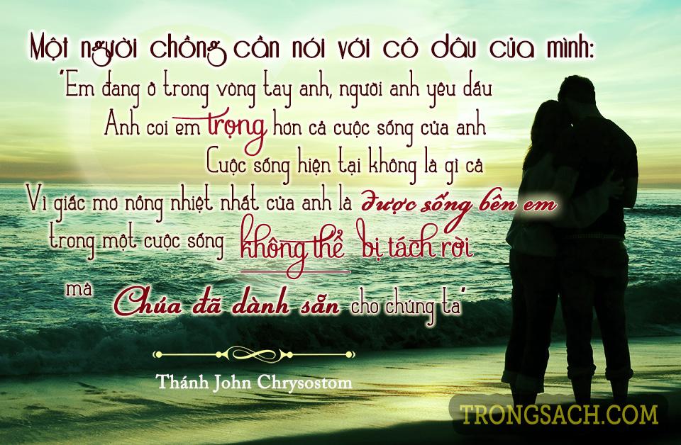 Một người chồng nói với cô dâu của mình... Thánh Gioan Kim Khẩu
